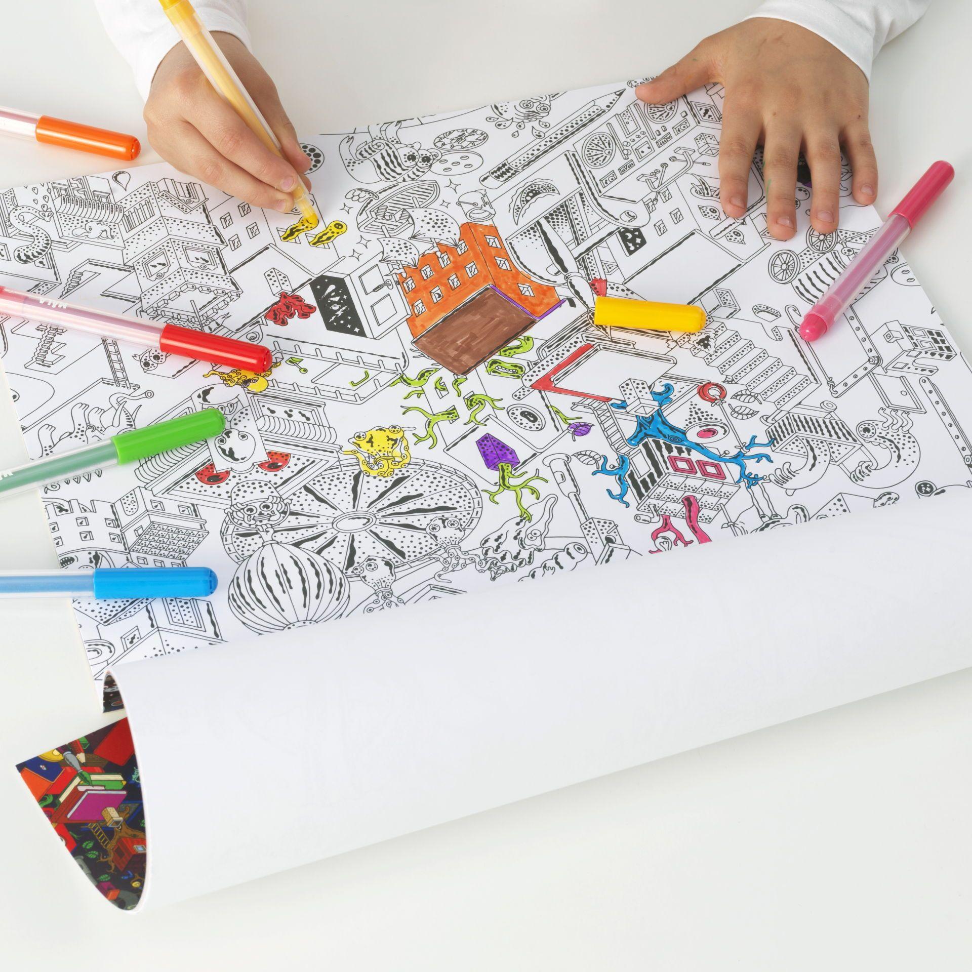 rol tekenpapier lustigt ikea kleurplaten en voor kinderen