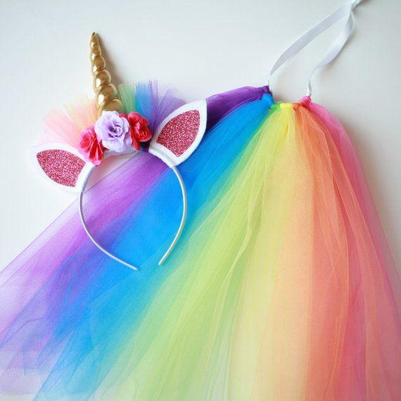 Rainbow Unicorn Costume - Girls Unicorn Costume - Rainbow Unicorn ... 0b85f63137e