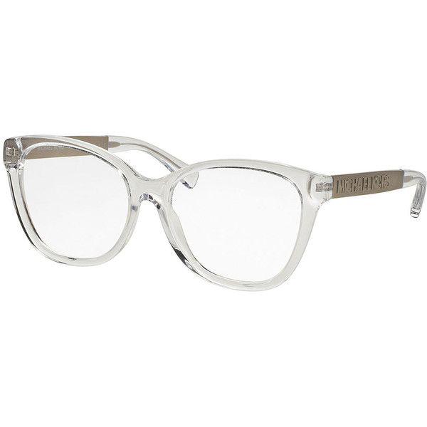 Michael Kors Square Metal-Arm Optical Frames ($195) ❤ liked on ...