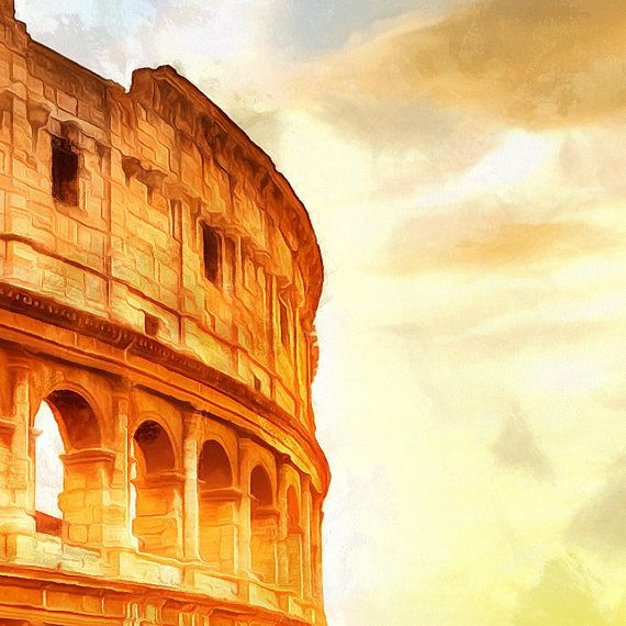 Coliseum Canvas, Large Art painting, Poster, Colosseum Wall art ...