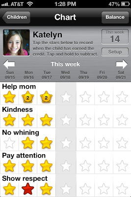 Kid s chores and behavior chart there s an app for that geek