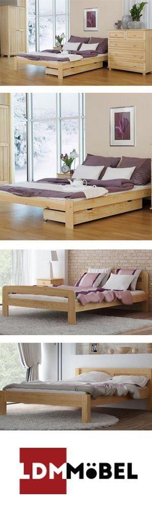 Betten aus Kiefernholz sind sehr robust, lassen sich
