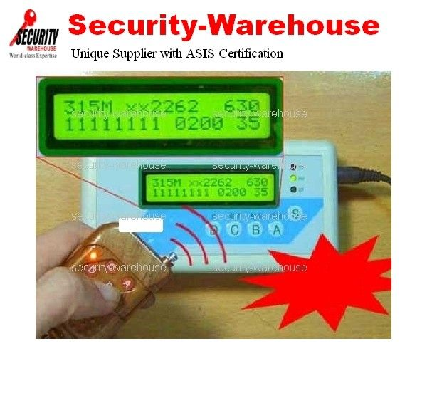 RF Wireless Security Code Scanner Grabber 315 & 433 MHz Many
