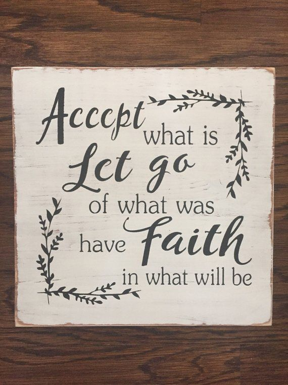 Accept What Is Sign Faith Sign Inspirational Sign Rustic ...