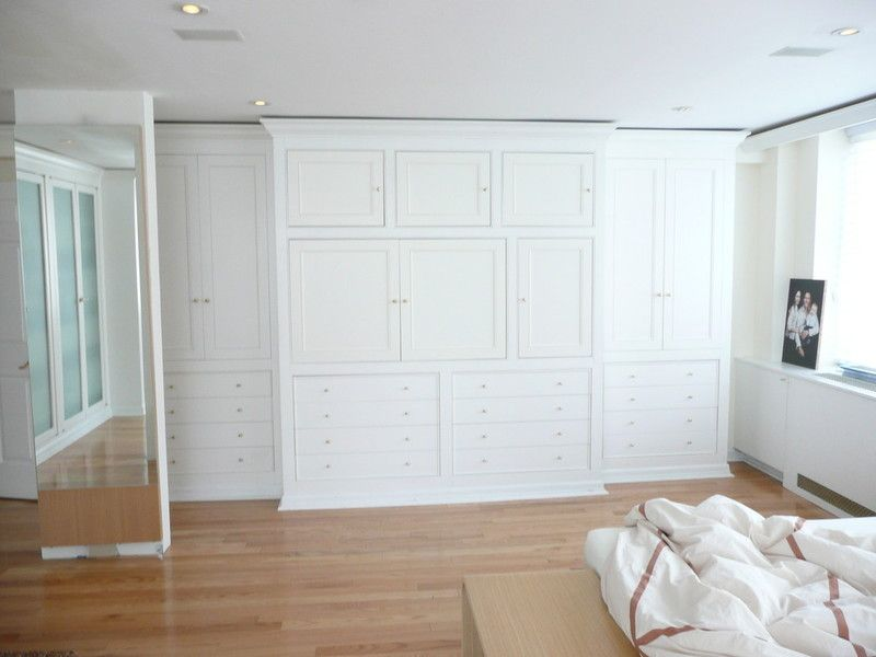 Nyc custom built bedroom walk in reach in closets wardrobes armoires wall units cabinets Small wall cabinets for bedroom
