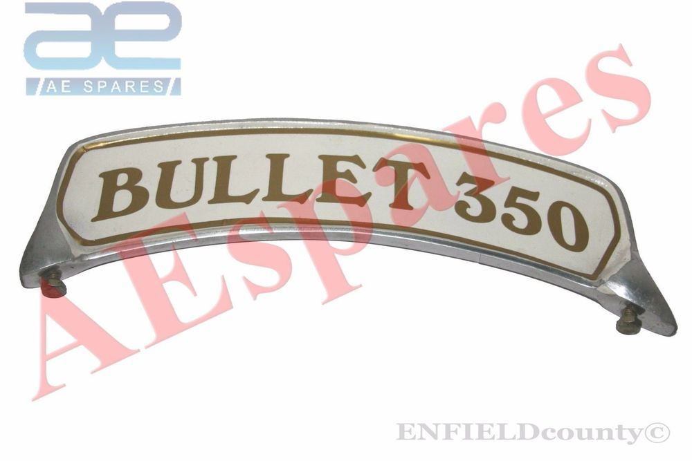 ROYAL ENFIELD BRASS MADE FRONT MUDGUARD NUMBER PLATE