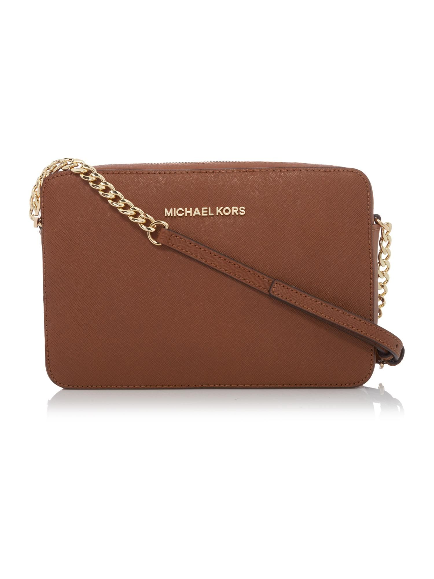 3059372815d1 155GBP Buy your Michael Kors Jet Set Travel Small Tan Cross Body Bag online  now at House of Fraser. Why not Buy and Collect in-store