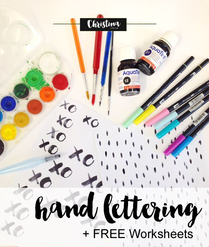 All about my hand lettering practice and the worksheets I tend to ...