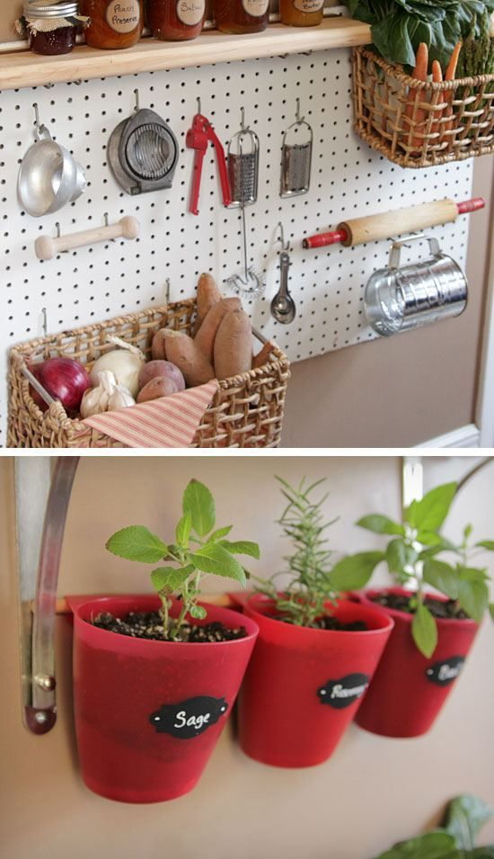 Diy Organization Ideas Part - 34: Open Pantry Peg Board Organizer | 32 DIY Storage Ideas For Small Spaces | DIY  Organization