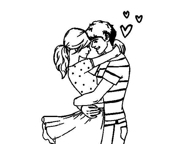 Dibujos De Enamorados Para Colorear Lindos Dibujos De Parejas Enamoradas Dibujo De Pareja Pareja Enamorada