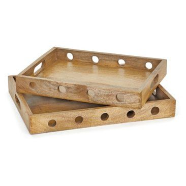 Wooden Decorative Trays Stunning Check Out This Item At One Kings Lane Asstof 2 Sorriso Trays Design Decoration