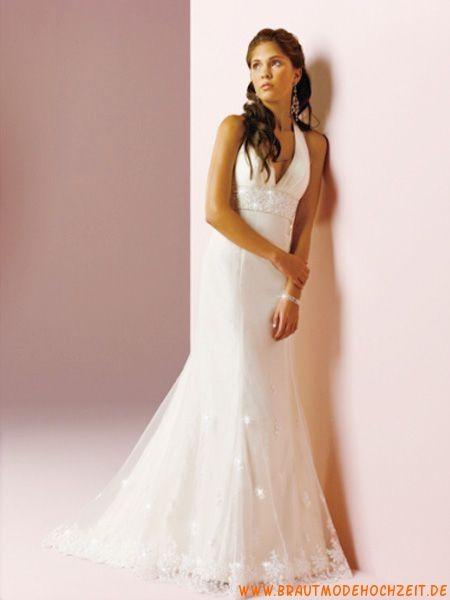 2012 frankfurt V-Ausschnitt Brautkleid aus Organza A-Linie