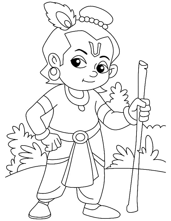 Supreme Personality Of Godhead Krishna Coloring Pages Download Print Online Coloring Pages For Free Halaman Mewarnai Dadu