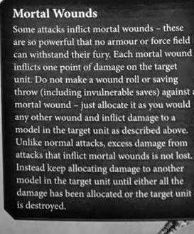 how mortal wounds work in 8th edition 40k   40k