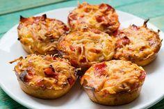Muffin per pizza deliziosi a basso contenuto di carboidrati