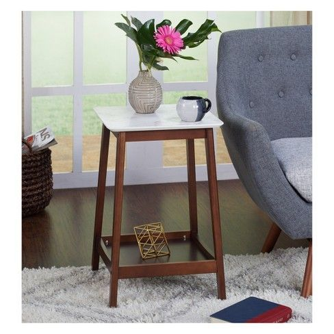 Jhovies End Table    Walnut    Buylateral Brown