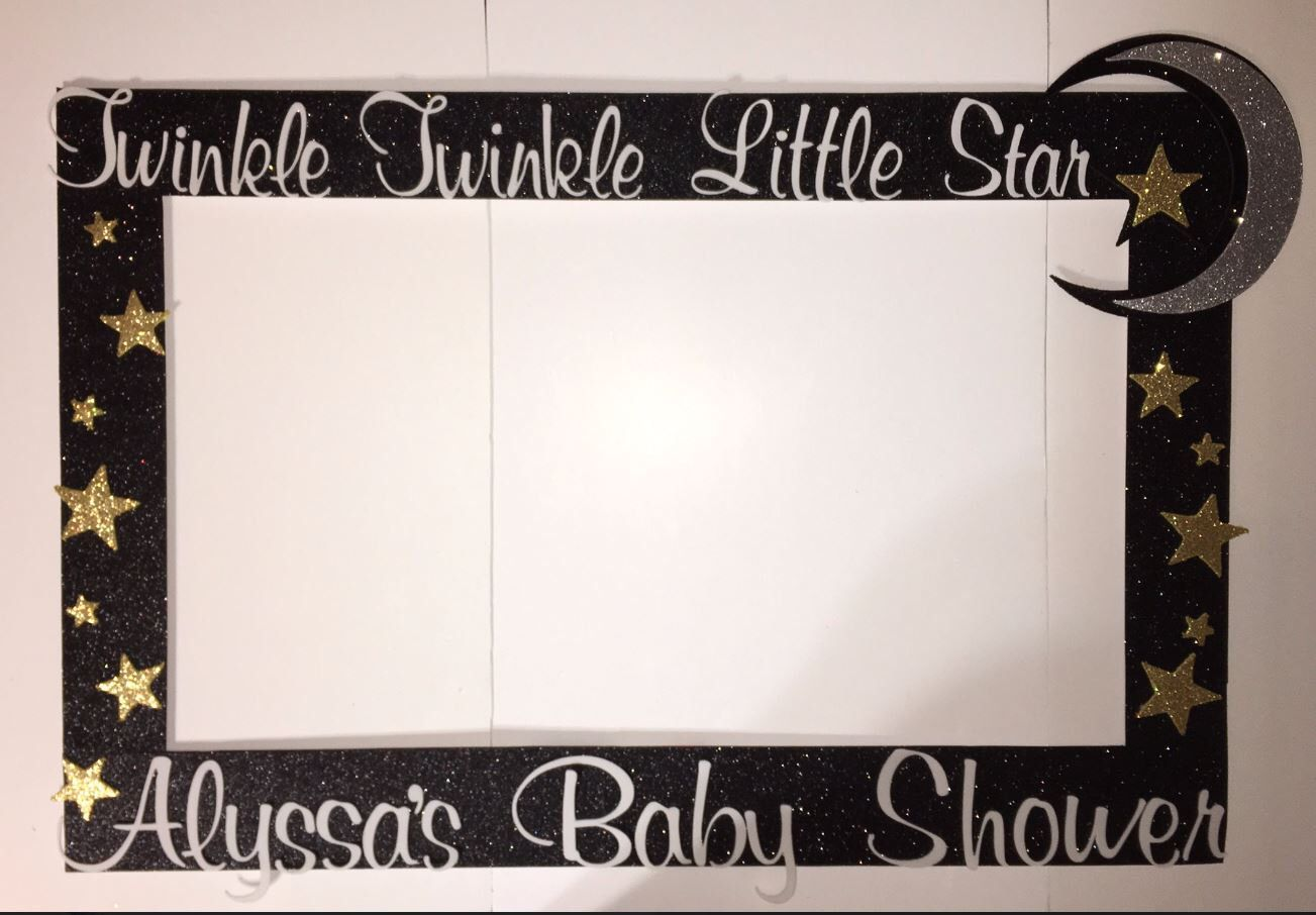 First Birthday Baby Shower Twinkle Stars Party Photo Booth Frame