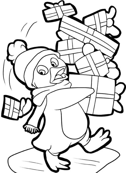 pinguin noel penguin coloring pages tree coloring page kids coloring pages coloring books