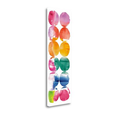 Tangletown Fine Art 'Spring Dots Panel II' by Elyse Deneige Painting Print on Wrapped Canvas