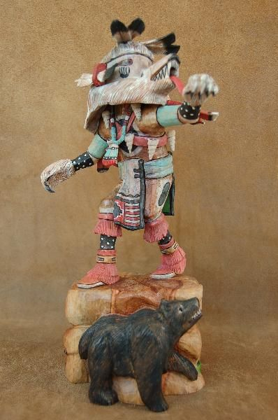 The Bear Kachina Doll Represents Great Power And Is Known To Cure
