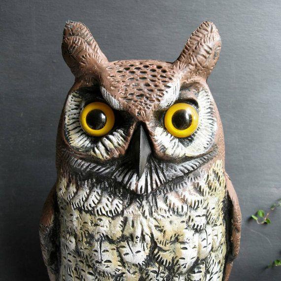 16 Halloween Owl Statue Plastic Garden Scarecrow Decoy by MagiaMia