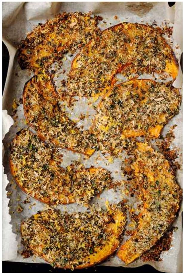 Crusted Pumpkin Wedges With Sour Cream Recipe Yotam Ottolenghi Recipes Roasted Pumpkin Recipes Recipes