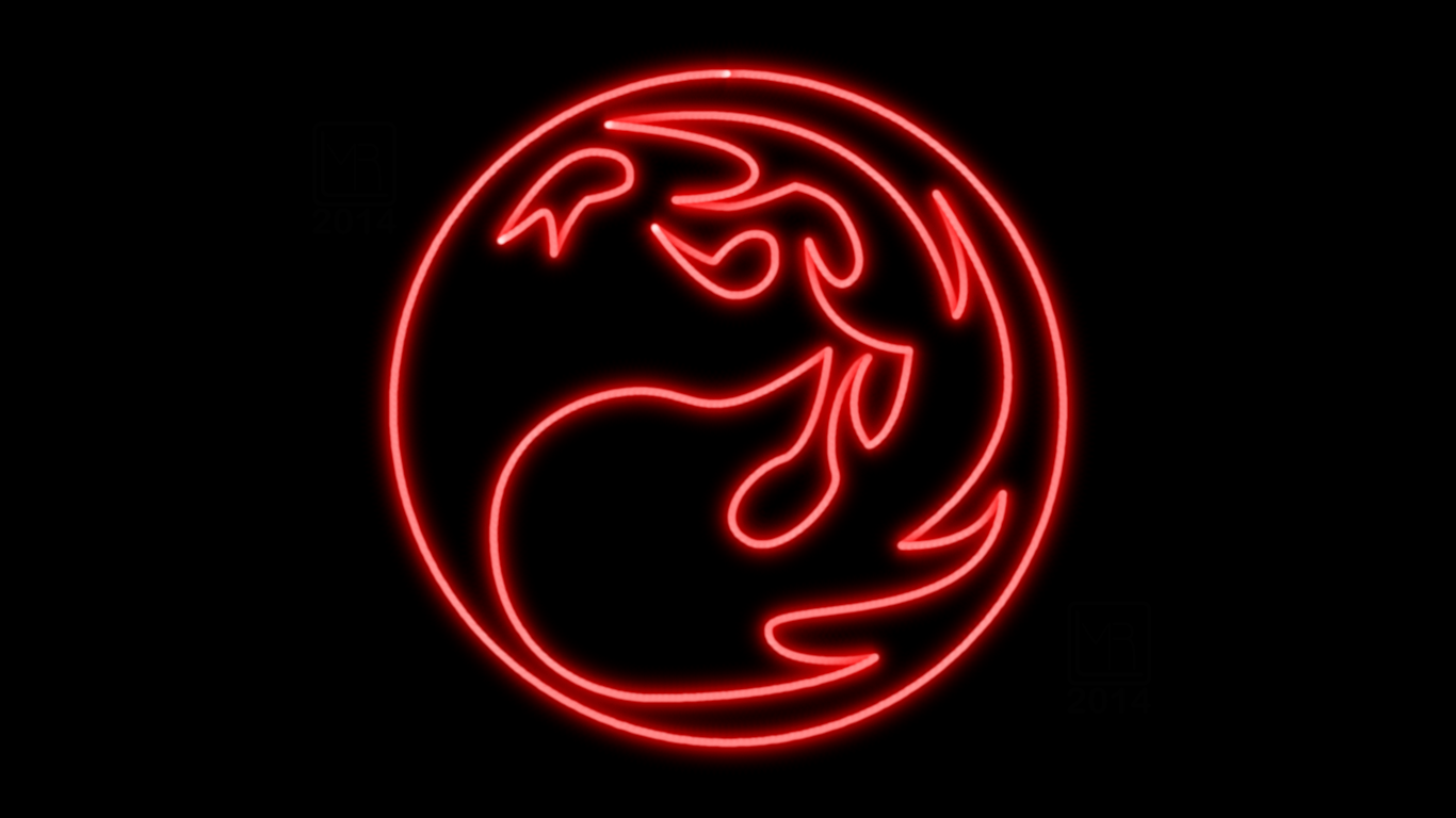 Magic The Gathering Red Mana Symbol Neon Wp By Morganrlewis