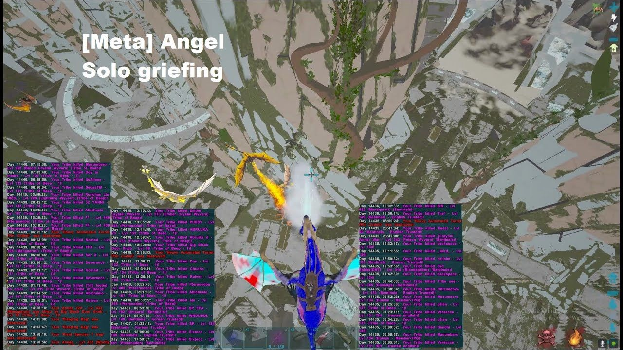 Meta Angel S Solo Griefs Ark Official Pvp Extinction 471 Pvp Angel Ark
