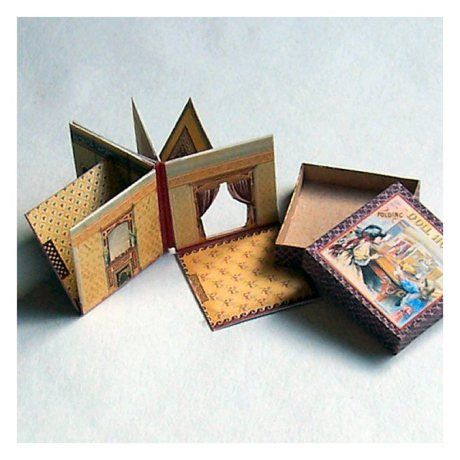 McLoughlin's New Folding Doll House = would go well in the Altoid boxes