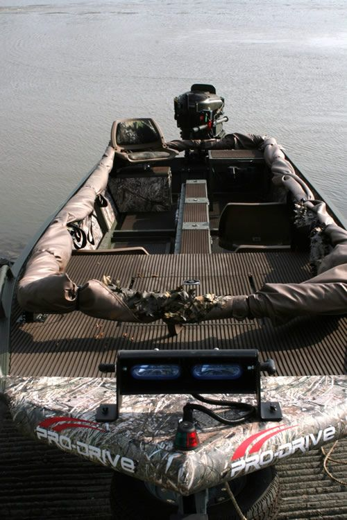 Bow Lights Avery Quick Set Boat Blind Being Ready