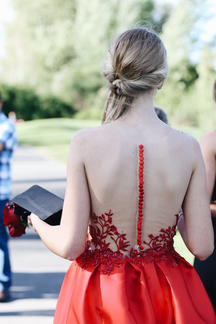 red prom dress, open back prom dress, Prom dress, prom dresses, best ...