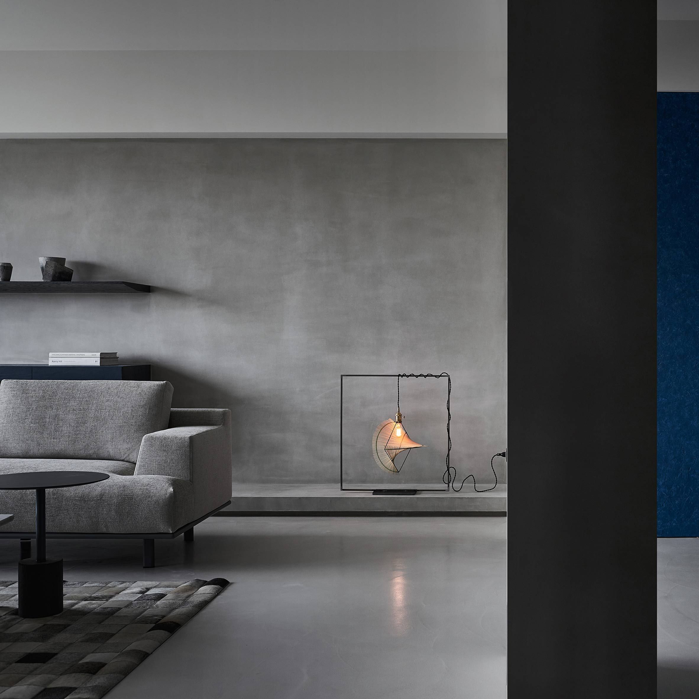 Concrete Walls Cement Floors Grey Tiles Marble And Dark Stained Wood Meet In This Taipei A Concrete Walls Interior Luxury Apartments Interior House Interior