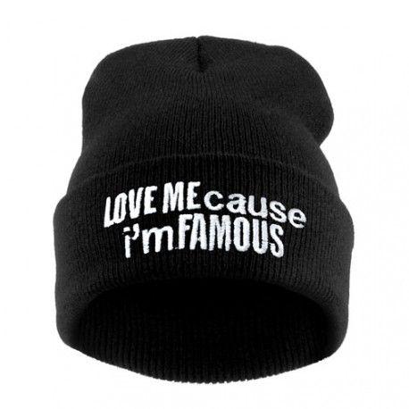 Czapka Krasnal Haft Famous Czarna Brooklyn Butik Hello Friday Beanie Hats