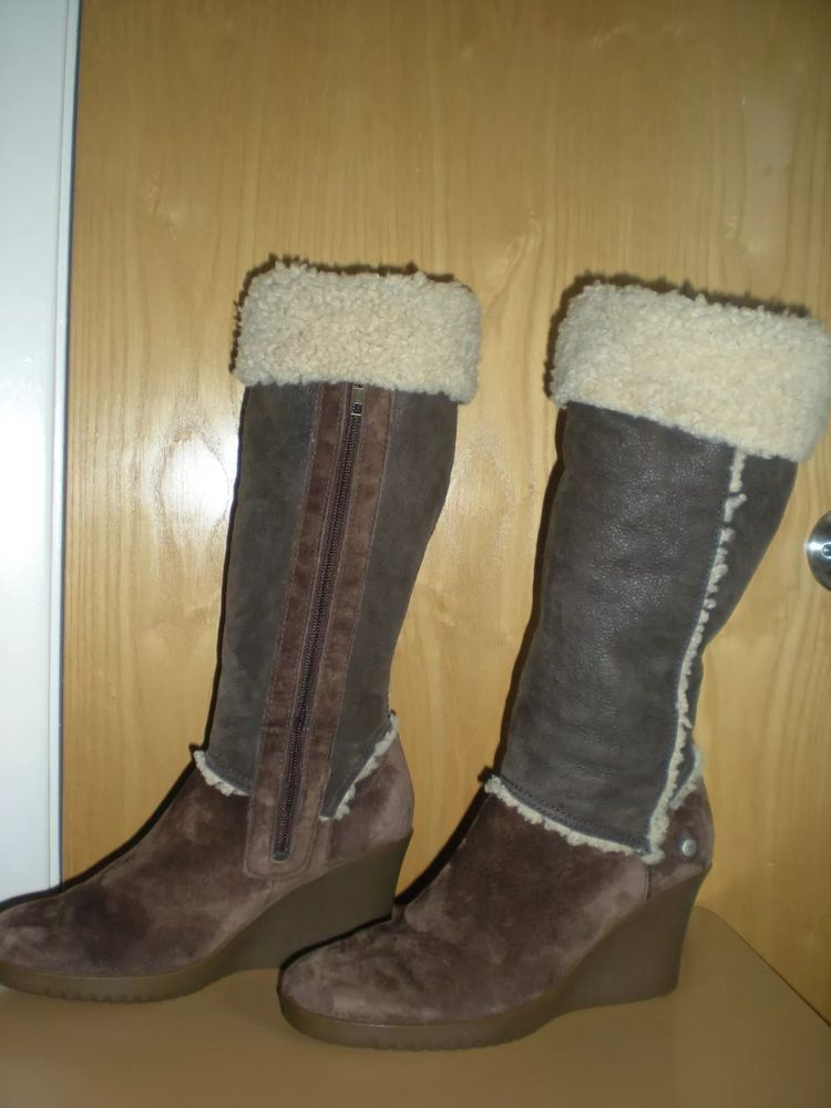 92c0655ad27 UGG Wedge Heel Knee High Winter Boots Size 9 US #fashion #clothing ...