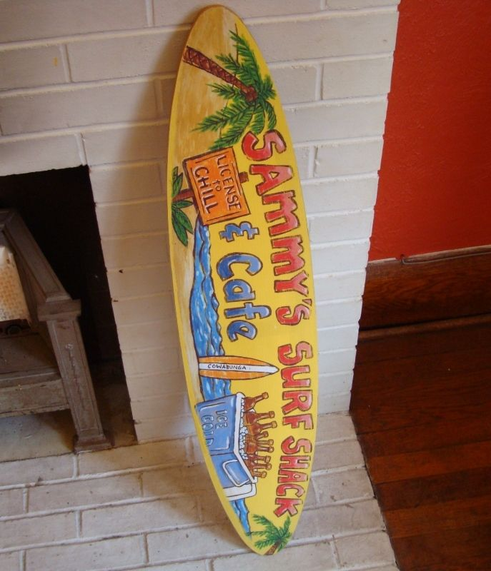 3 FT. SURFBOARD PALM TREE SIGN