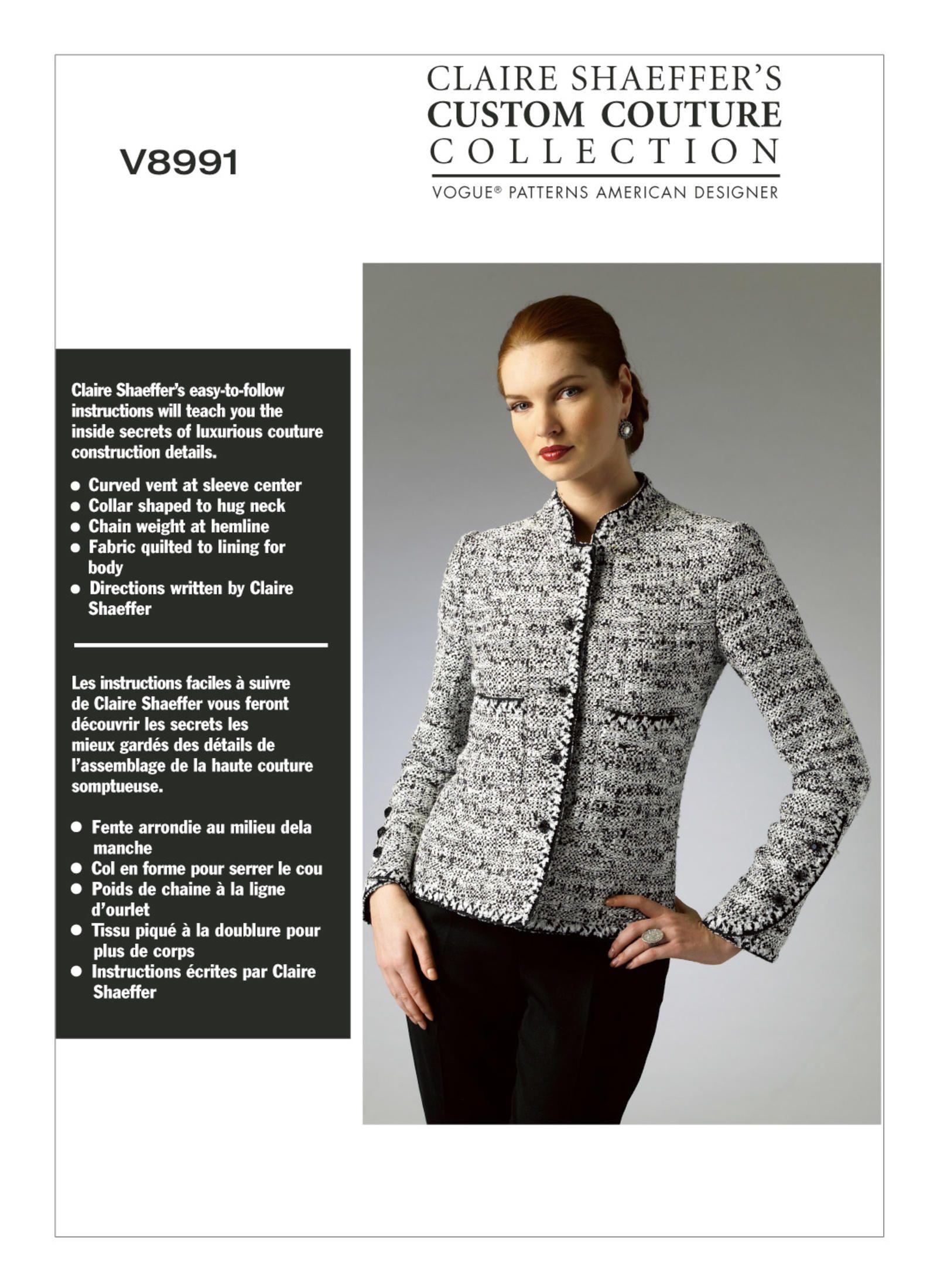 V8991   Vogue Patterns   Sewing knitted jacket inspiration   Pinterest