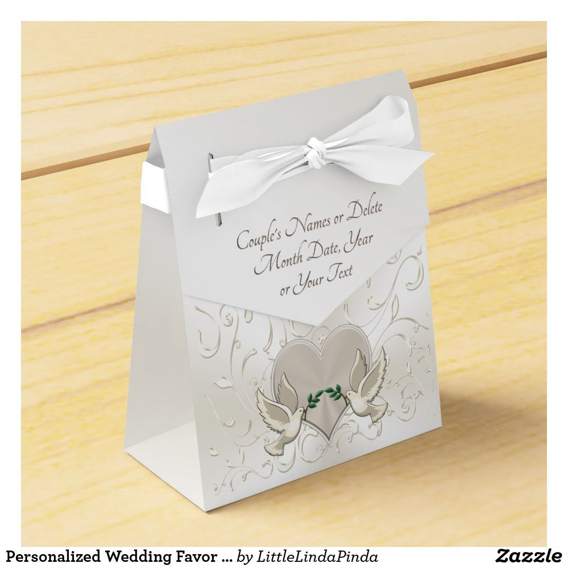 Personalized Wedding Favor Boxes, Love Bird Favors Favor Box | Favor ...