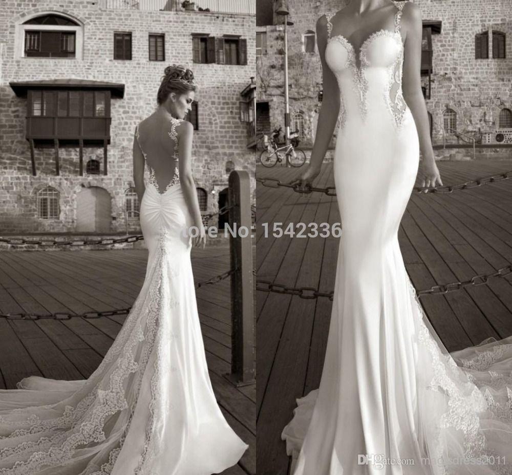Mermaid Wedding Dresses 2015 Galia Lahav Summer Lace Bare Back Wedding Dress Brid Lace Wedding Dress Vintage Lace Sweetheart Wedding Dress Bridal Gowns Mermaid [ 928 x 1000 Pixel ]