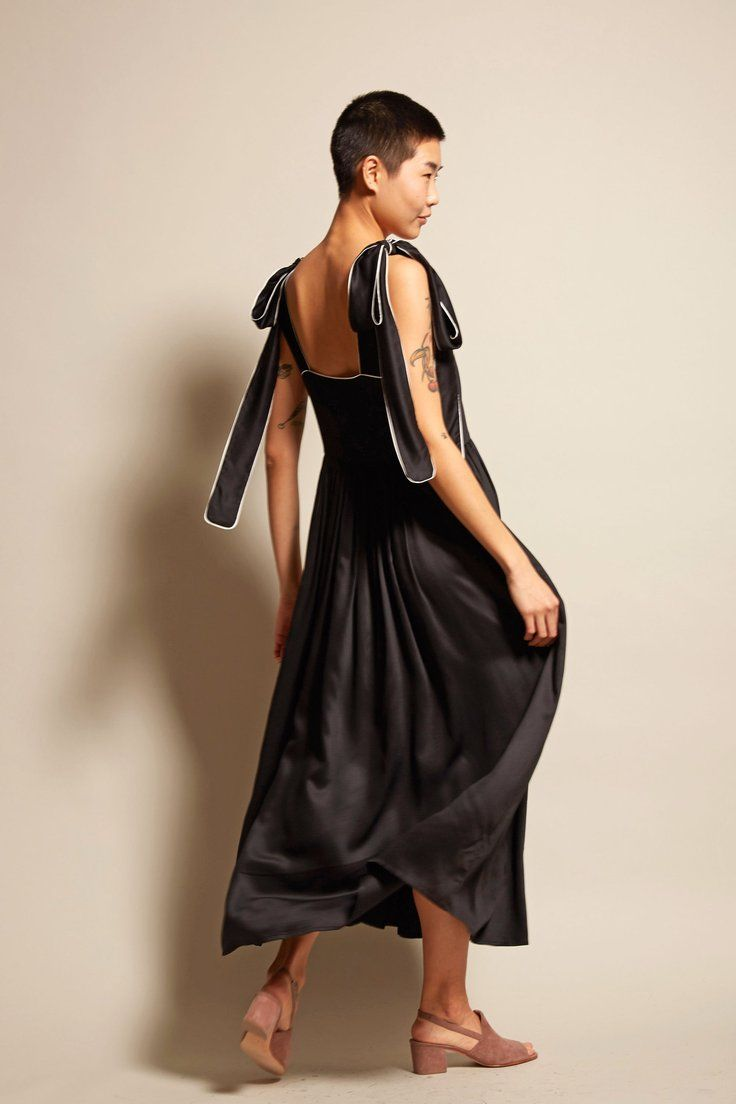 we love black silk dresses