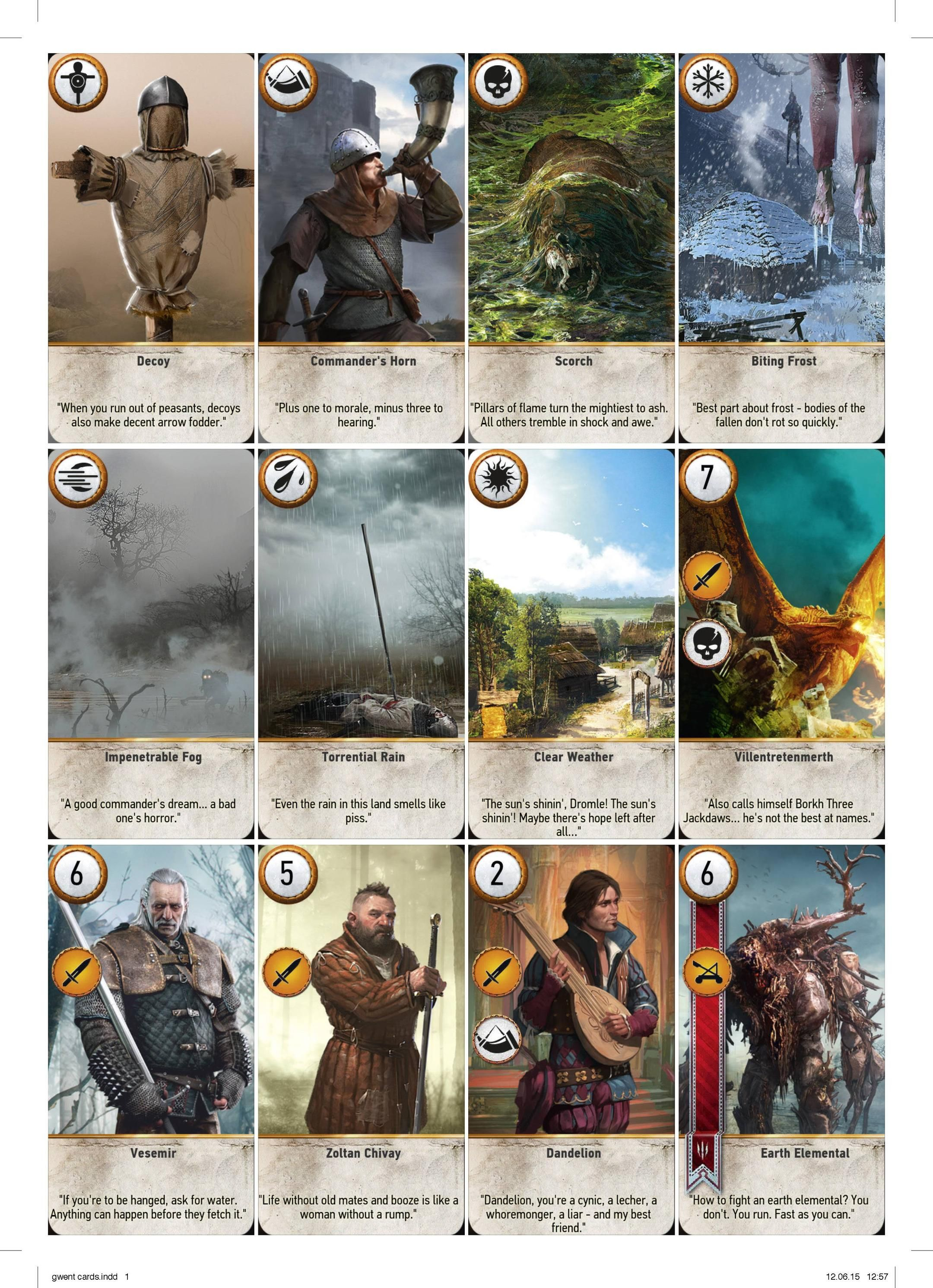 Complete Printable GWENT Cards High Resolution   Cards, Gaming and