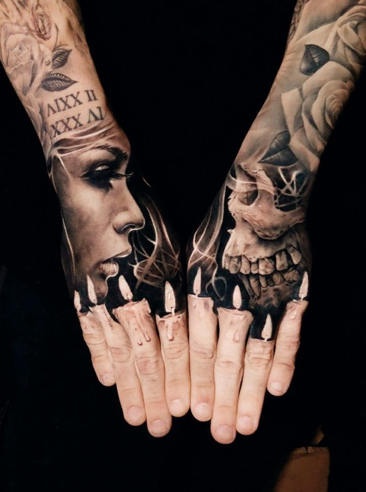 Top 55+ Best Hand Tattoos -Ideen #hand tattoo #hand tattoo manner #hand tätowierung  - Page 40 in 2020 | Hand tattoos, Finger tattoos, Cool finger tattoos
