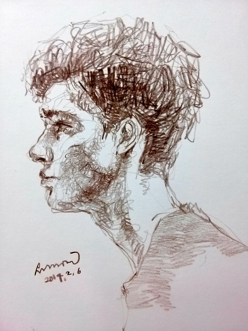 areasdrawing: Faber castell color pencil. Model Robbie beeser ...