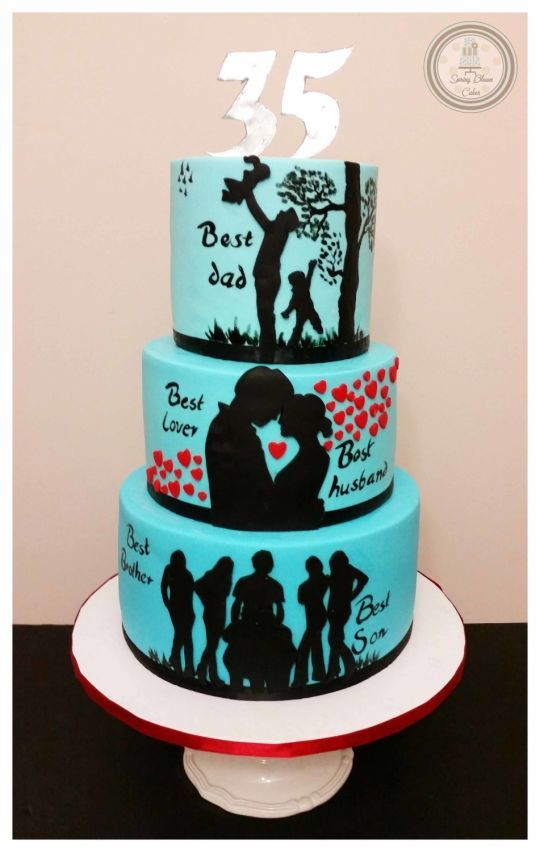 Story Of A Man Cake Birthday Cake For Husband Cake For Husband