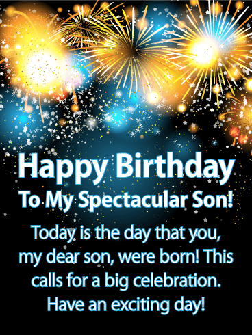 Incredible Send Lots Of Excitement To Your Son To Help Celebrate The Day He Personalised Birthday Cards Paralily Jamesorg