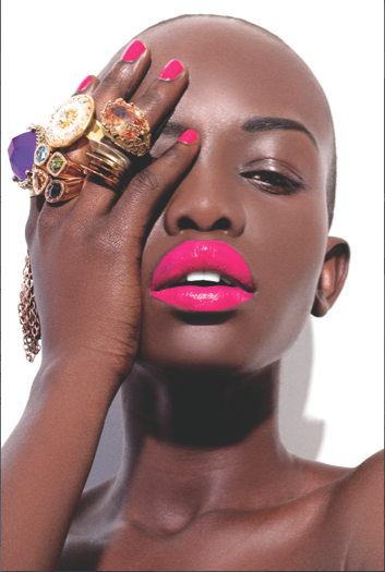 Neon pink black girls can wear bright lip stick | Glam it ...