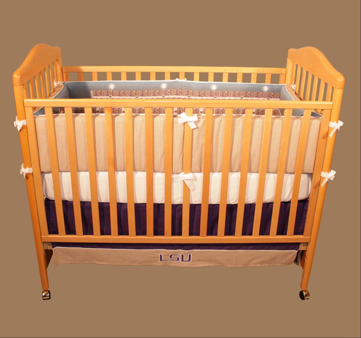 lsu stadium crib bedding set   random   pinterest   baby baby