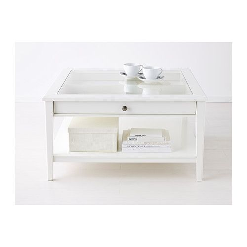 Liatorp Table Basse Blanc Verre Ameublement Appart