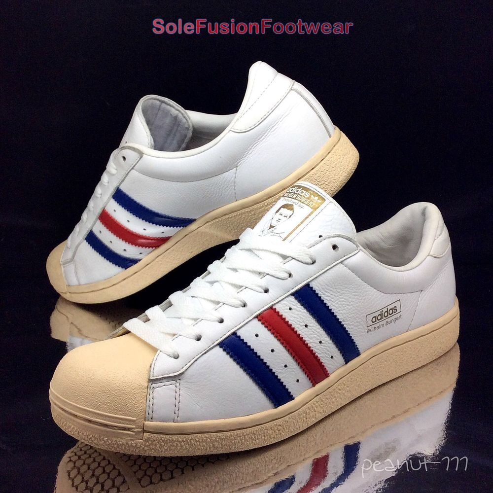 best sneakers b8aa3 a7200 adidas Originals Mens Wilhelm Bungert Trainers White sz 8.5 Sneakers US 9  42 2 3   eBay
