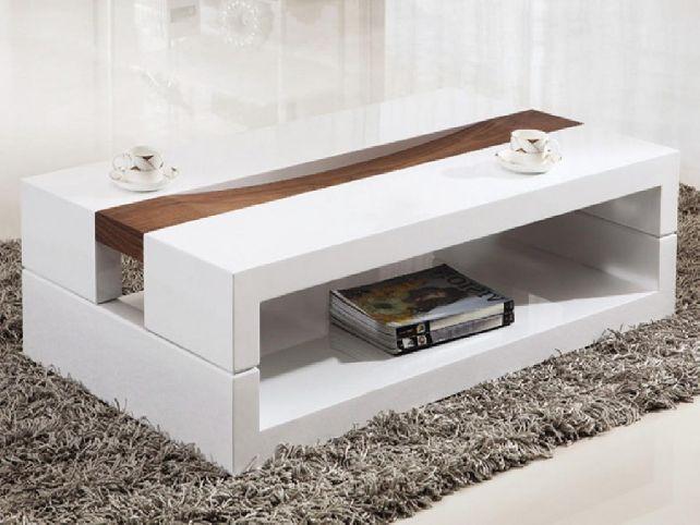 Large Modern White Coffee Table Jpg