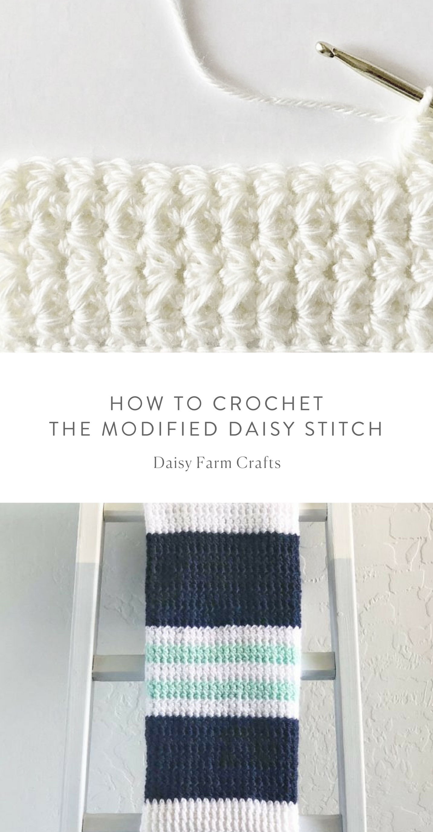 How to Crochet the Modified Daisy Stitch | Crochet | Pinterest ...